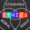 Ethics Standards Moral and Right Words Showing Values